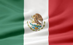 rippled Mexican flag