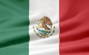 rippled Mexican flag